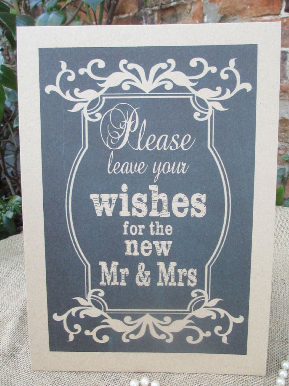 Wish Tree Wishes For The New Mr Amp Mrs A4 Size Poster